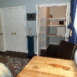 View into the large closet and entrance