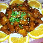 Orange Chicken from the Coronado Cafe at South Point Resort Casino