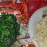 $20 lobster special (1.5 lb lobster, potatoes, and broccolini)