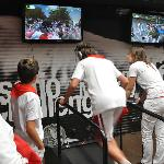 Interactive treadmill test for running with the bulls