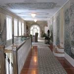Upstairs hallway with murals