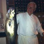 The owner Menelaos with his fresh catch of the day!