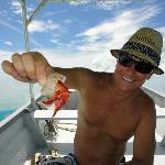 Hermit crabs made perfect bait (sorry little guy) on the Lagoon Fishing trip excursion.