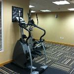 Exercise room off pool area