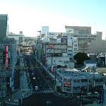 豊田市駅を臨む