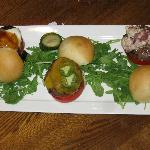 Sliders (awesome!). Served extra rare.