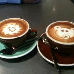 Smiling Sun & Bear Latte Art