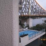 Story Bridge and swimming pool