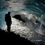 Inside a glacier!