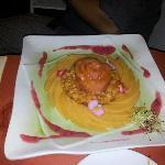 un petit tartare de melon, un vrai délice!!!!