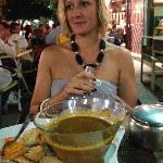 La soupe de poissons, croutons aillés et rouille (à se damner tellement elle est bonne!)