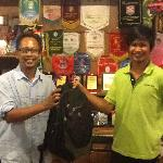 Mr. Aldrian, Witress Sabah Tea Garden returning my bag