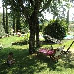 giardino adiacente piscina