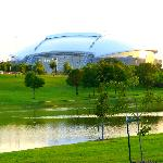Yes,here it is, COWBOYS stadium,just a few moments from the hotel