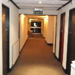 corridor of hotel towards room