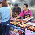 One of the many food stalls