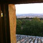 il panorama dalla finestra della camera