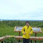 View of Alaskan Range from lodge