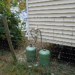 Mobil Home Bouteille de gaz non protégé