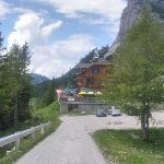 Loser Hütte, on arrival early June