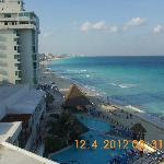 View of beach from room looking to the left