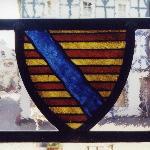"""Bleiverglasung im Fenster """"Lohrer Wappen"""""""