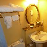 Bathroom, too small but clean