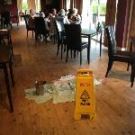 Leaky dining room.