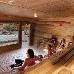 America's Largest Co-ed Cedar Sauna
