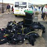 kit all ready to be loaded in the boat