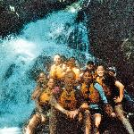 Great picture at the water fall.