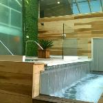 spa hot tub area