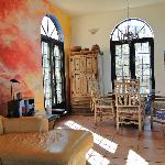 Living and dining room of Casa Colina