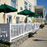 Stafford's Noggin Room Patio, outdoor dining in Petoskey
