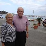 my parents enjoyed a romantic evening at a seaside cafe