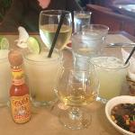 Margs, tequila and corn/bean relish!
