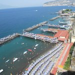 Sunbathing area in Sorrento