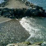 BEACH ALL PEBBLES,VERY HARD 2 WALK ON