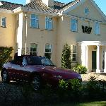MX5 in front of Exmoor House