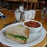 1/2 Hummus Sandwich and Veggie Chili