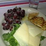 Sugared grapes, Parmesan cheese and Arugula appetizer.