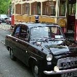 Vintage car parade at Crich