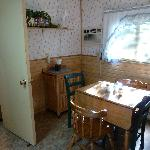 Dining half of kitchen - cabin 6