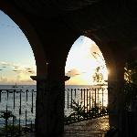 Sunset through the arches