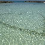 How romantic is that....heart shaped out of rocks!