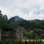 Vista del volcán desde la terraza