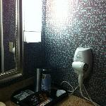 Bathroom hairdryer and coffee maker