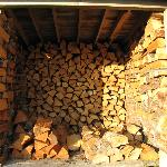 Amazing wood pile for use at the fire pit