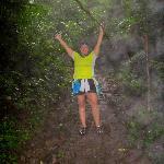 Tenorio National Park trail to the Rio Celeste Waterfall