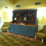 hutch in lobby, nice floors